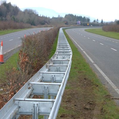 Crash Barrier In Ambassa